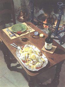 Aioli sur une table